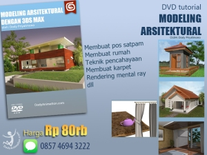 promosi 3ds max modeling arsitektural
