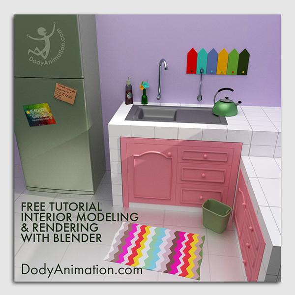 cover blender interior modeling cycles render and material