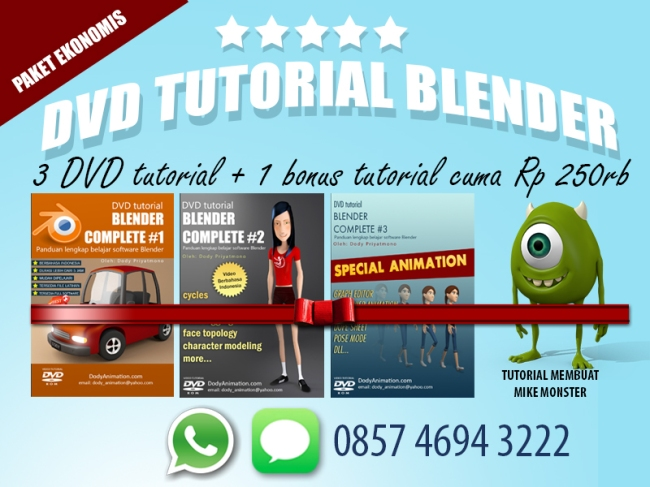 PAKET EKONOMIS TUTORIAL BLENDER